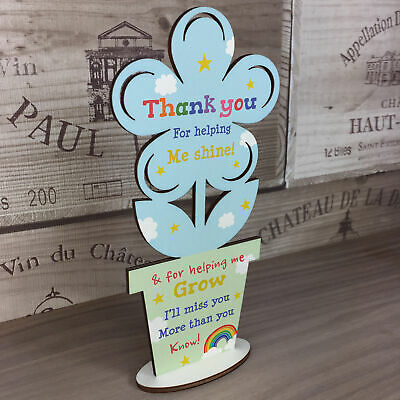 Thank You Wooden Flower Gift For Teacher And Assistant Leaving School Pre School 2