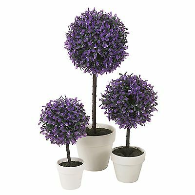 Decorative Artificial Outdoor Ball Plant Tree Pot Colour Small Medium Large 9