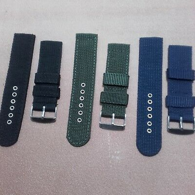 18mm - 20mm - 22mm Strap Correa Reloj Nylon Pulsera Watch band 2
