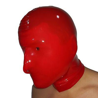 Latex-Maske aus Gummi in rot, Einheitsgröße 2