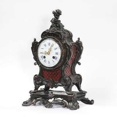 Japy Freres Antique French Bronze Rococo Table Clock Music Fully Working C1890 3