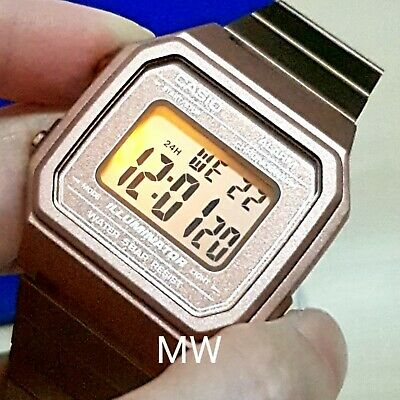 New Casio Vintage Rose Gold Digital Stainless Steel Watch B650WC-5A B650WC-5A 5