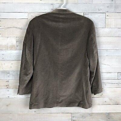 Le Collezioni Structure Brown Velvet 3 Button Suit Jacket Sport Coat Men's Large 2