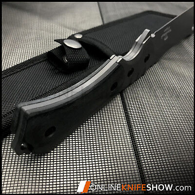 """9"""" TACTICAL HUNTING SURVIVAL FIXED BLADE MACHETE KNIFE Camping Cleaver Razor 3"""