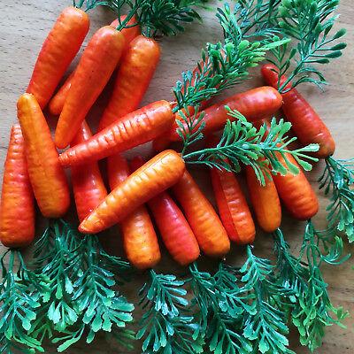 18 x Möhren Karotten 6.5cm Schneemann Nase Dekoration Ostern Gemüse Kunstgemüse 2
