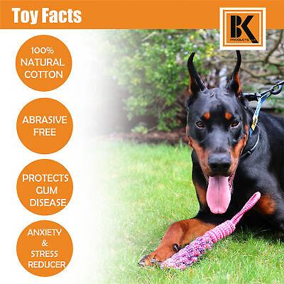 Dog Toys - 8 Large Dog Rope Toys for Medium and Large Dogs- BK 4