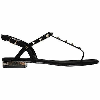 b37d0fcd7 2 of 7 Ladies Womens Summer Ankle Strap Flat Studded Toe Post Gladiator  Sandals Shoes