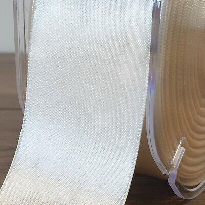 Beautiful IVORY Double Sided Satin Ribbon 3mm-50mm Wide Plain Cut Per 1 Metre 2