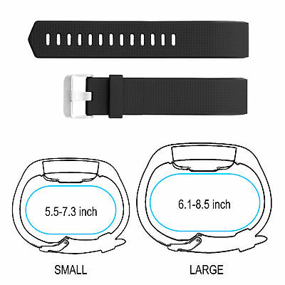 Fitbit Charge 2 Band Replacement Wristband Silicon Sports Watch Strap Metal Lot 7