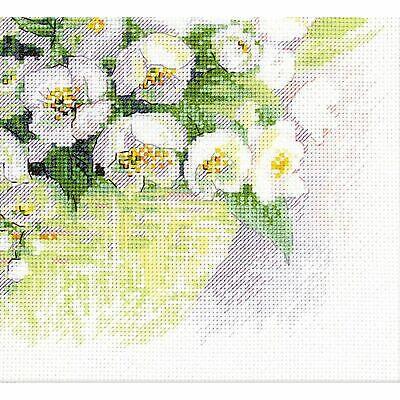 Watercolour Jasmine Counted Cross Stitch Kit RIOLIS 1467