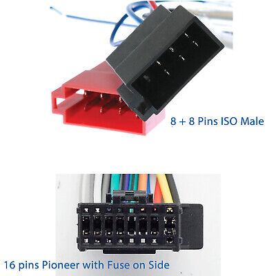 pioneer iso wiring harness fit dehx3750ui dehx4750bt deh
