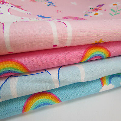 Happy little unicorns 100% cotton fabric by Robert Kaufman per FQT 2