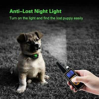 Dog Shock Training Collar Rechargeable Remote Control Waterproof IP67 875 Yards 5