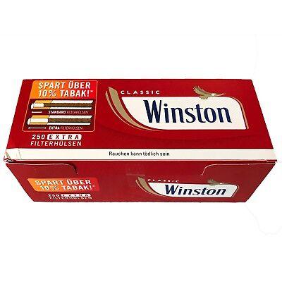 4x Winston Tabak/Volumentabak Mega Boxes 210g, 2.000 Extra Hülsen, Zubehör