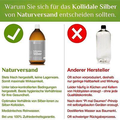 Kolloidales Silber (Silberwasser) 1000 ml, hochrein, hoch konzentriert: 25 ppm! 2