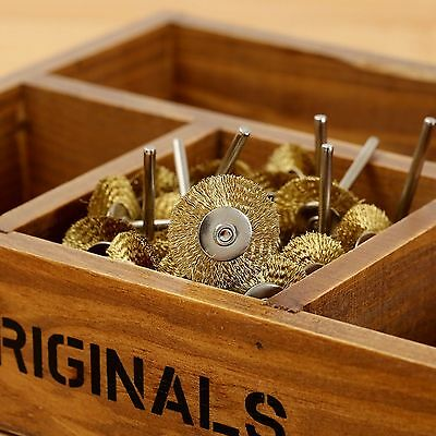20x3mm Brass Wire Wheel Brush for Rotary Power Tool Drill Rust Weld Die Grinder 3