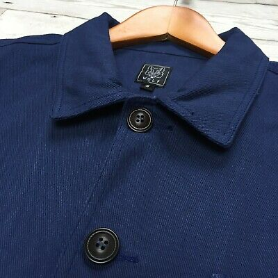 60s Style French Navy Blue Cotton Twill Canvas Chore Worker Jacket - All Sizes 9