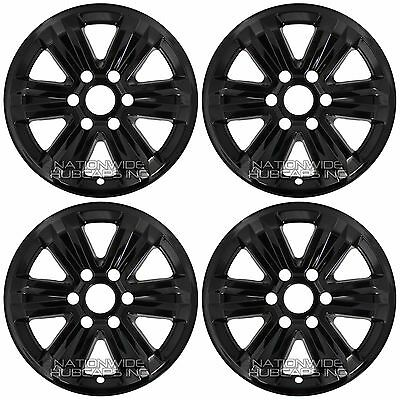 4 Black 2015 2018 Ford F150 Xlt 17 Alloy Wheel Skins Full Rim