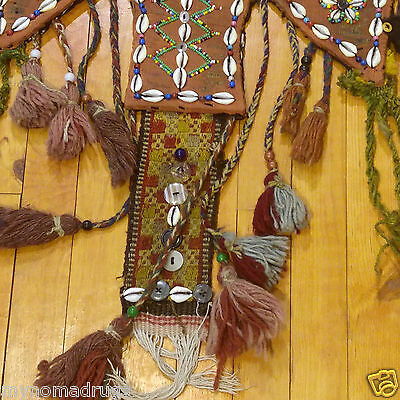 Rare 1'4''x3'3'' Antique 1900-1930s Tribal Ceremonial Wall Hanging Turkey 3