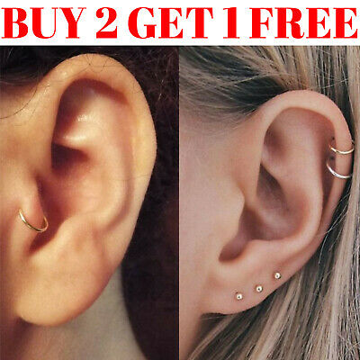 Nose Ring Tragus Helix Bar Ring Hoop Cartilage Ear Earring Small Thin Piercing 2