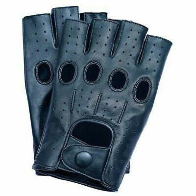 Fingerless 100% Genuine Leather Driving Gloves Chauffer Swift wears 3