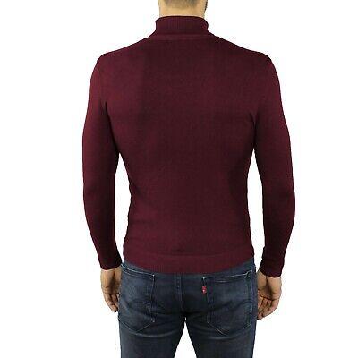 maglia maglioncino maglione a dolcevita da uomo collo alto gola lupetto slim fit 2