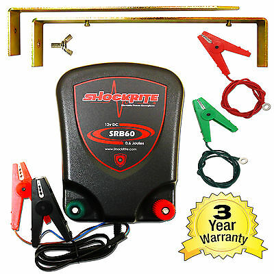 Electric Fence Battery Powered Energiser Unit SRB60 0.6 Joules