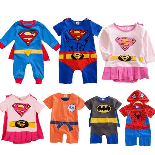 2d3b1cbf32 Hero Superman Batman Funky Cute Fancy Dress Baby Grow Outfit Romper Suit  3-24M 4 4 of 6 ...