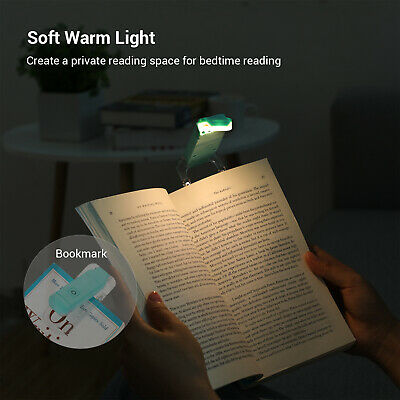 DEWENWILS LED USB Rechargeable Book Light for Reading in Bed Warm White HBRL01B 6