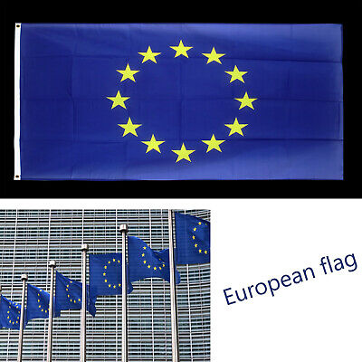 Europe Flag European Union Size 5 X 3 ft  High Quality Fabric With Brass Eyelets 2