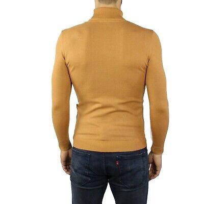 maglia maglioncino maglione a dolcevita da uomo collo alto gola lupetto slim fit 4