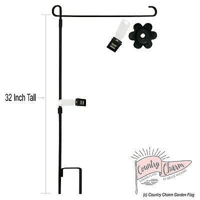 10//20//40x Mini Garden Flag Pole Stand Flower Shape Rubber Stopper/&Anti-wind Clip