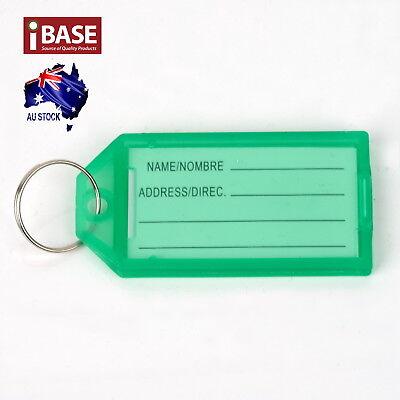 10x Key Ring Indicate Luggage Tag ID Label Travel Suitcase Identity Name Card 8