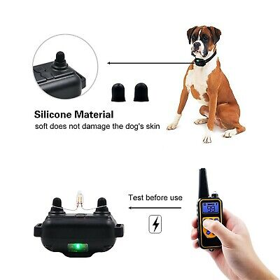Dog Shock Training Collar Rechargeable Remote Control Waterproof IP67 875 Yards 3