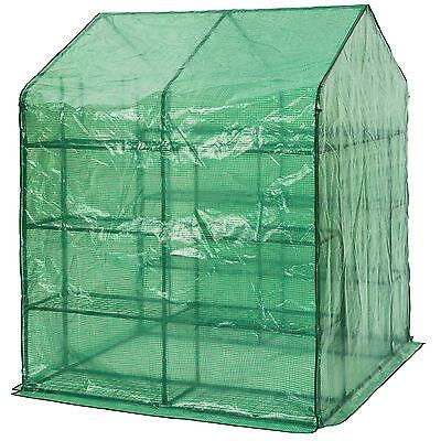 Serre de jardin metal PE plastique tente abri légume fruit plante 143x143x195cm 5