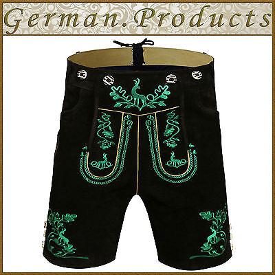Set Q4 German Bavarian Trachten Oktoberfest Men Short Lederhosen 4 Pcs Package
