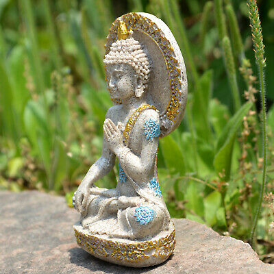 Thai Buddha Statue Home Decoration Resin Sandstone Yoga Meditation ZEN Sculpture 7