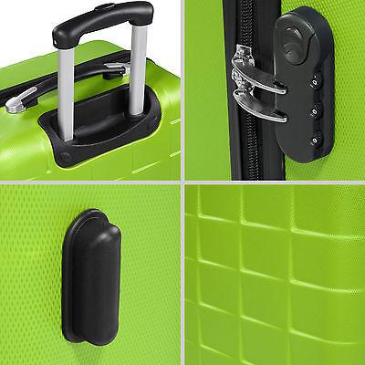 Set 3 Maletas ABS Juego de Maletas de Viaje Trolley Rígidas Verde con Candado 6