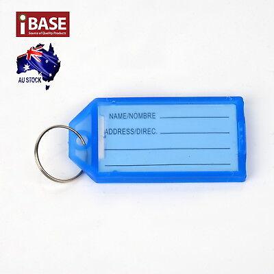 10x Key Ring Indicate Luggage Tag ID Label Travel Suitcase Identity Name Card 6