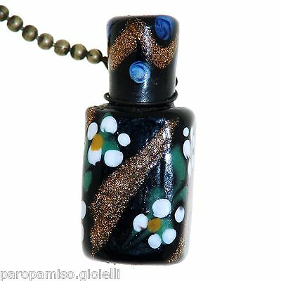 Perfume Scent Glass Bottle Chatelaine Murano, Venezia 19th century  (0377) 2