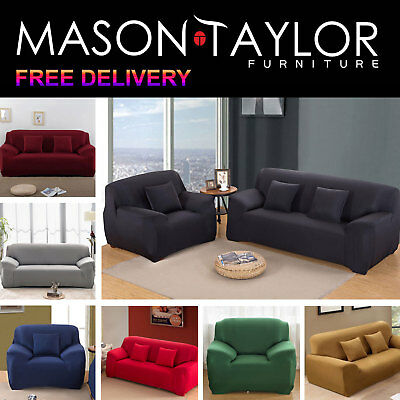 Mason Taylor Stretch Couch Sofa Lounge Cover Slipcover Protector 1/2/3 Seater 2