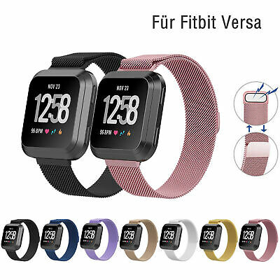 For Fitbit Versa Milanese Stainless Steel Metal Replacement Strap Watch Band UK 2