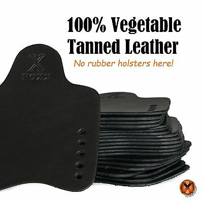 FOXX LEATHER & Kydex IWB Hybrid Holster SAR B6P Black Right Tuckable Conceal