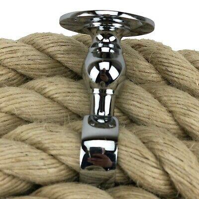 décoration 24 mm NATURAL Bannister Corde X 12 Pieds c//w 4 cuivre bronze raccords