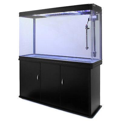 Pecera Acuario Completo 300L Mueble Inferior Negro & Kit Iniciación 300W 2