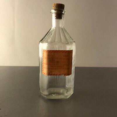 (m103) Glasflasche Glas 100ml 14cm Korken Apotheke Chemie Tetrachlorkohlenstoff 4