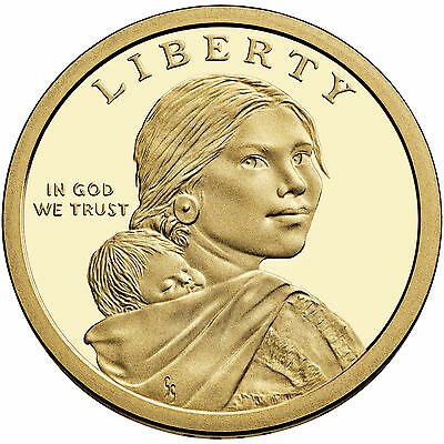 2014-P NATIVE AMERICAN SACAGAWEA GOLDEN DOLLAR from UNCIRCULATED MINT ROLL 3
