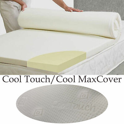 Lavish 100% Memory Foam Mattress Topper + All Sizes,Depths & Cover Options 3
