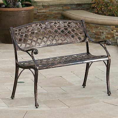 1 Of 5FREE Shipping Outdoor Patio Furniture Cast Aluminum Garden Bench