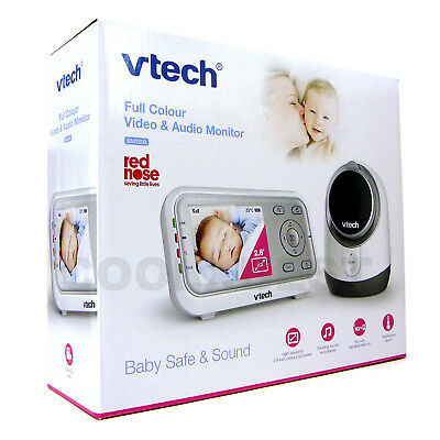 Free Postage- New Vtech Bm3300 Audio & Video Baby Monitor Talk-Back Night Vision